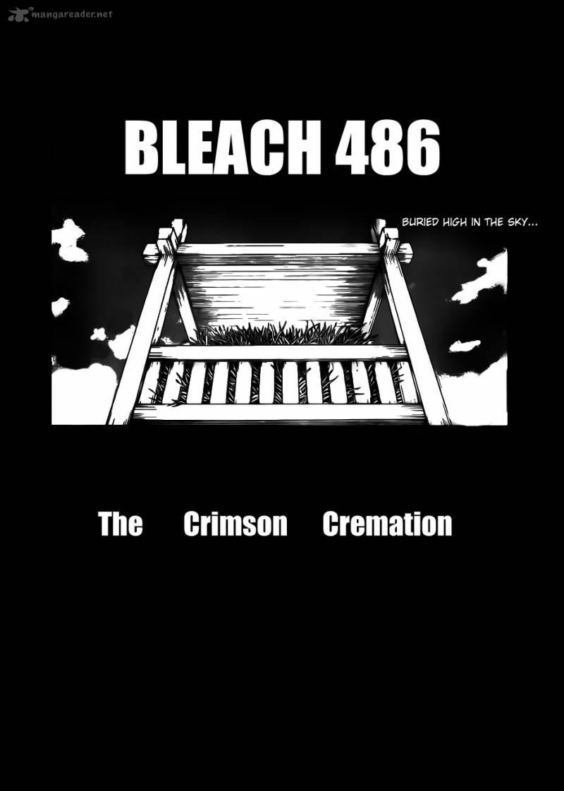 Bleach 486 The Crimson Cremation